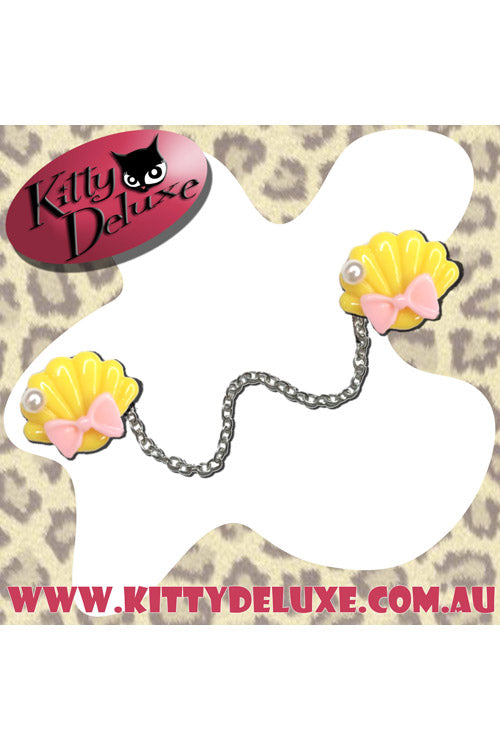 Kitty Deluxe Cardigan Clips in Ariel's Wardrobe - Yellow with Pink Bow