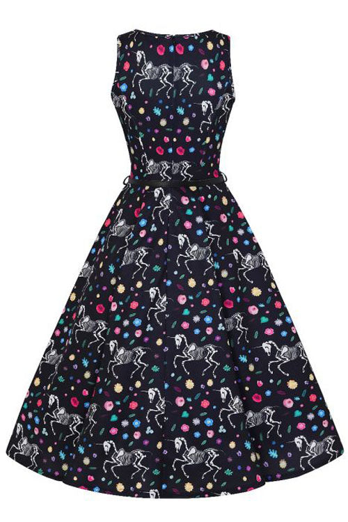 Lady Vintage Hepburn Dress in Wasted Unicorn