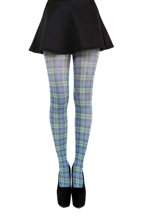 Pamela Mann Hosiery Opaque Tights in Blackwatch Tartan