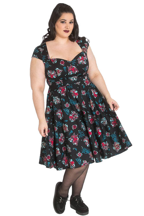 Hell Bunny Poseidon 50's Dress