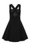 Hell Bunny Wonder Years Pinafore in Black