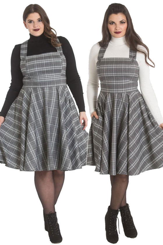 Hell Bunny Frostine Pinafore Dress