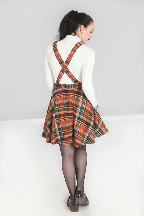 Hell Bunny Oktober Pinafore Dress