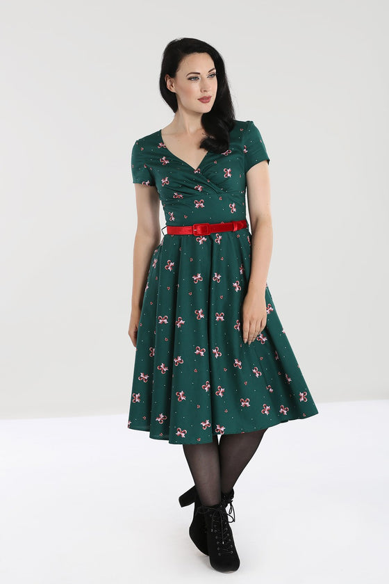 Hell Bunny Beth 50's Dress in Christmas Print
