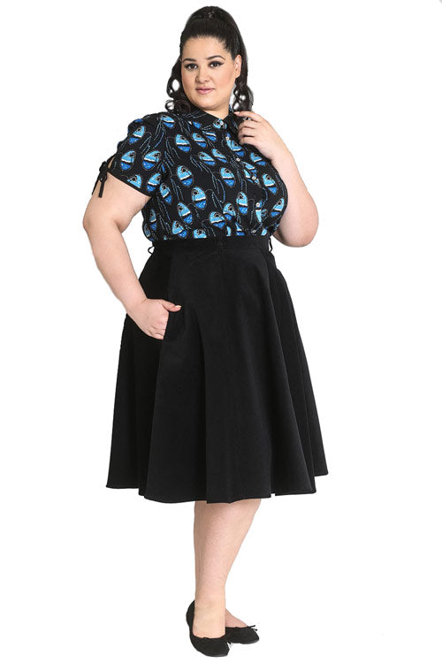 Hell Bunny Jefferson Skirt in Black