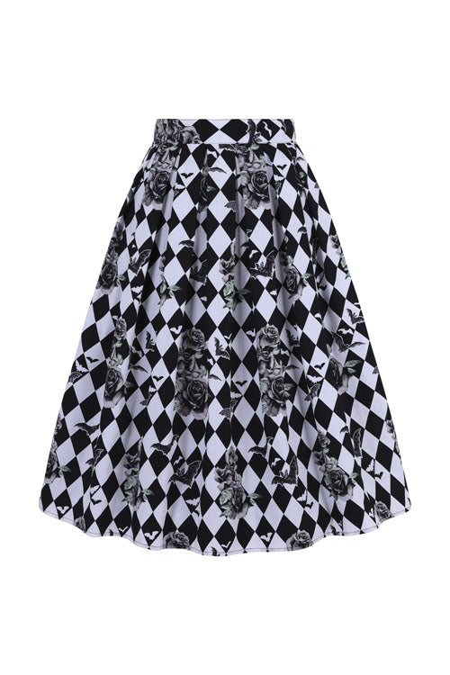 Hell Bunny Hauntley 50's Skirt