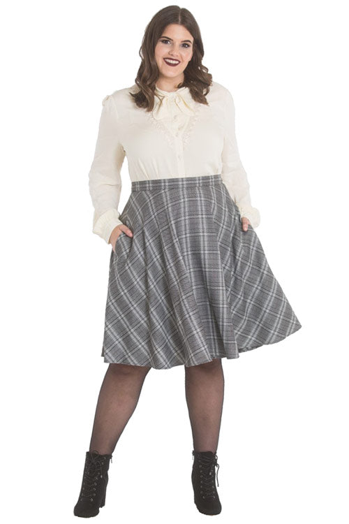 Hell Bunny Frostine Mid Skirt