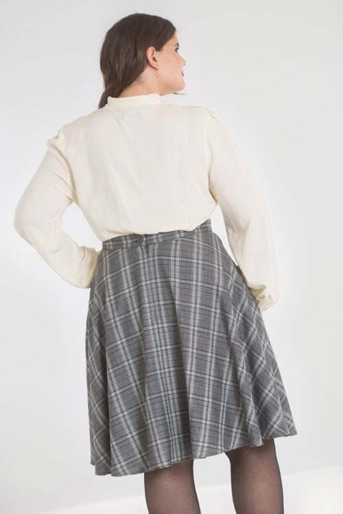 Hell Bunny Frostline Mid Skirt