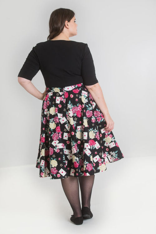 Hell Bunny Queen of Heart 50's Skirt