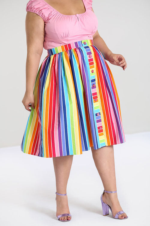 Hell Bunny Over The Rainbow 50's Skirt