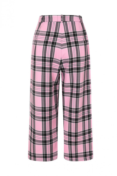 Hell Bunny Riot Culottes in Pink
