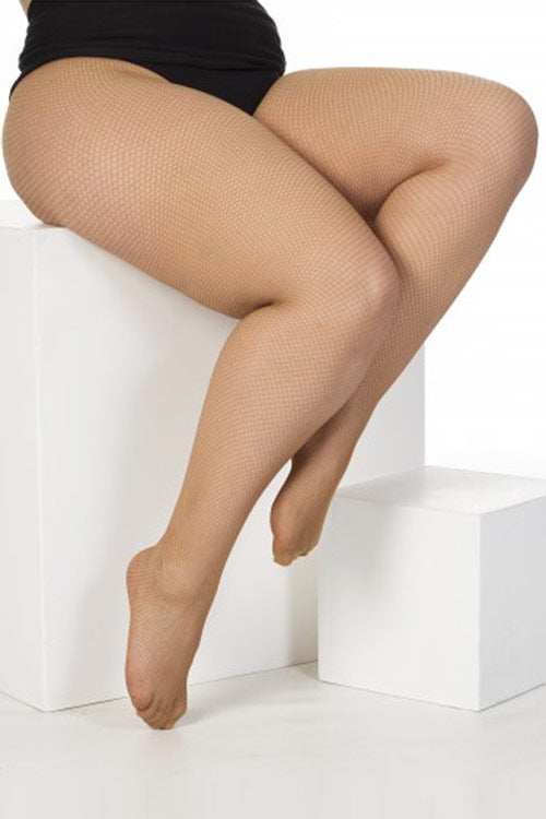 Pamela Mann Hosiery Fishnet Tights in Nude