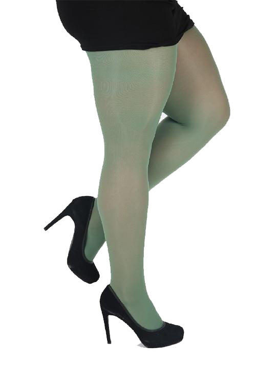 Pamela Mann Hosiery 50 Denier Opaque Pantyhose in Leaf Green