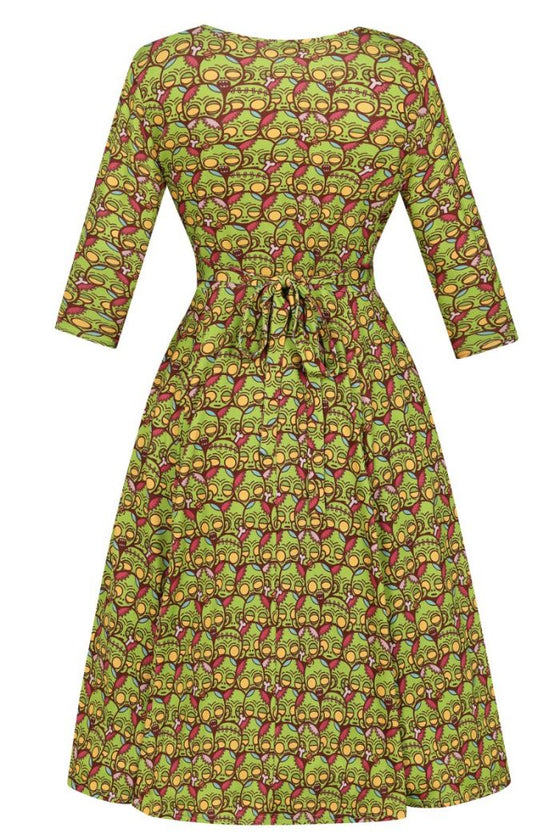 Lady Vintage Lyra Dress in Ghoulish Friends