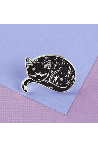 Punky Pins Mystical Cat Enamel Pin