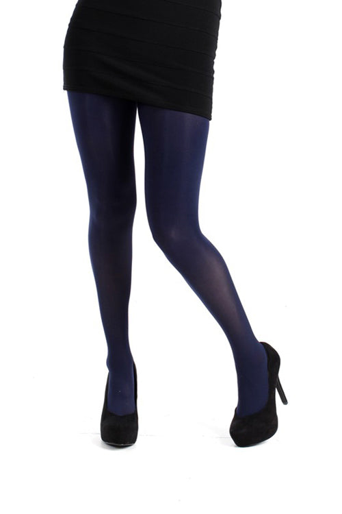 Pamela Mann Hosiery 50 Denier Opaque Pantyhose in Navy