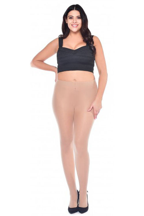 Pamela Mann Hosiery Curvy Super-Stretch 50 Denier Tights in Natural/Nude