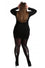 Pamela Mann Hosiery Opaque Flocked Tights Cat Scratch in Black