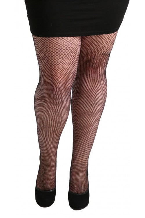 Pamela Mann Hosiery Fishnet Tights in Black