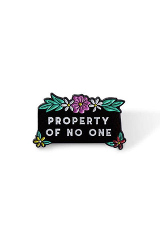 Punky Pins Property of No One Enamel Pin