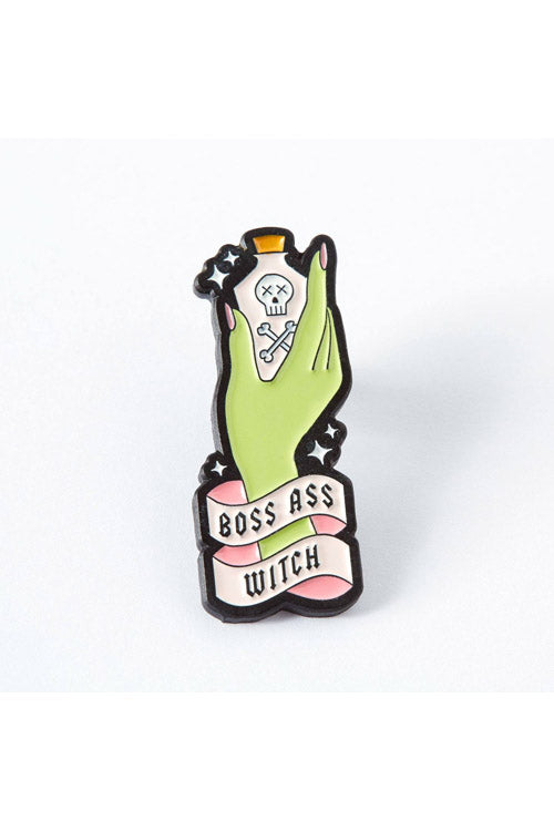 Punky Pins Boss Witch Enamel Pin