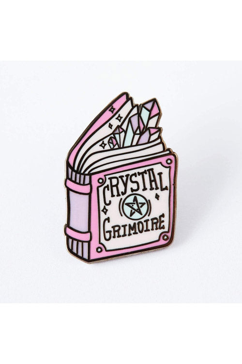 Punky Pins Crystal Grimoire Book Enamel Pin