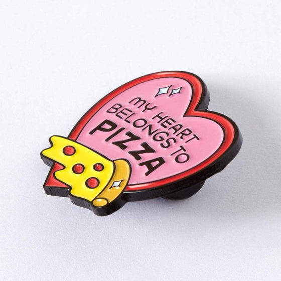 Punky Pins My Heart Belongs to Pizza Enamel Pin