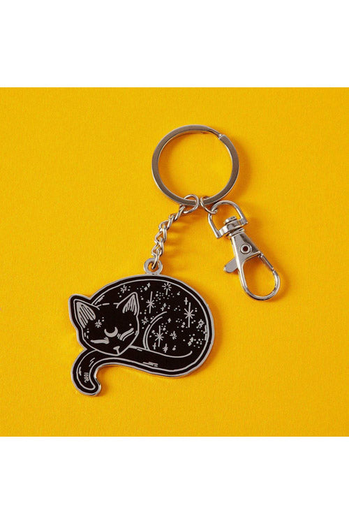 Punky Pins Mystical Cat Keyring