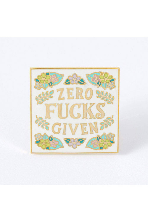 Punky Pins Zero Fucks Given Enamel Pin