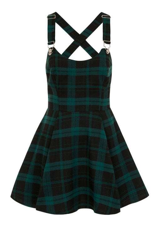 Collectif Rochelle Slither Check Skater Dress