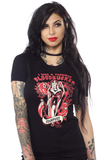 Sourpuss Black T-Shirt in Blood Sucker