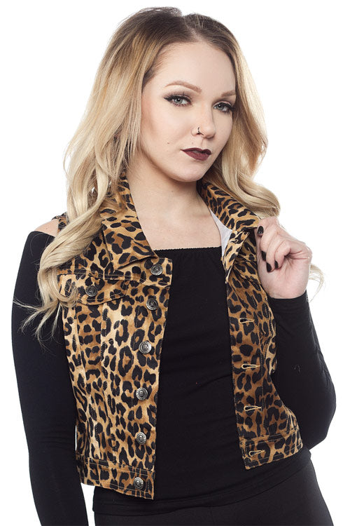 Sourpuss Essential Leopard Vest