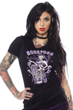 Sourpuss Black T-Shirt in Jungle Princess