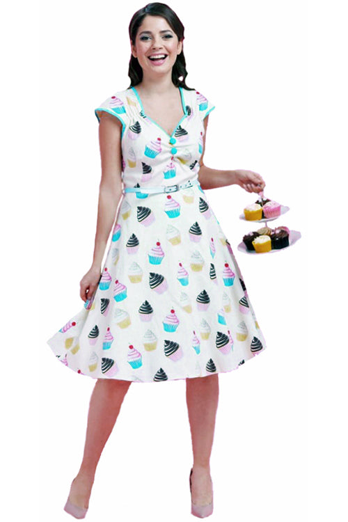 Lady Vintage Isabella Dress in Sweet Cupcakes