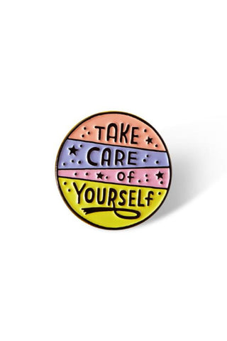 Punky Pins Take Care Of Yourself Enamel Pin