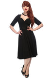 Collectif Trixie Doll Dress in Black