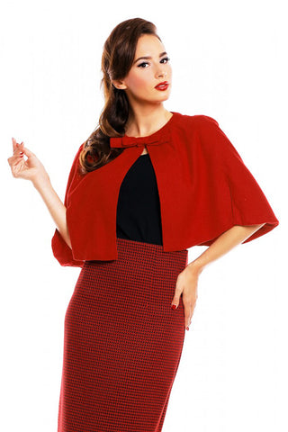 Dolly & Dotty Sabrina Cape in Red