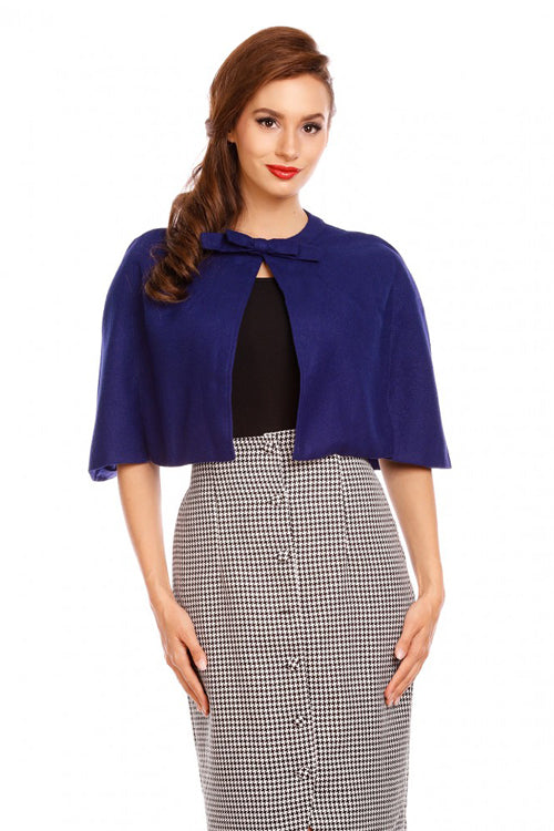 Dolly & Dotty Sabrina Cape in Blue