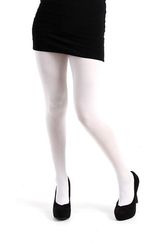 Pamela Mann Hosiery 50 Denier Opaque Pantyhose in White