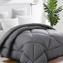 Comforter Duvet insert with Corner Tabs for Duvet Cover 2100 Series, Snow Goose Down Alternative, Hotel Collection Comforter Reversible, Hypoallergenic, Gray