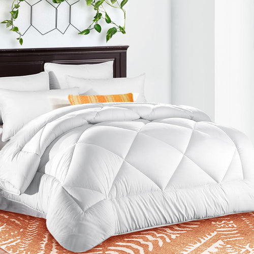 Comforter Duvet Insert with Corner Tabs for Duvet Cover Summer Cooling 2100 Series, Snow Goose Down Alternative, Hotel Collection Reversible, Hypoallergenic Choice, Snow White