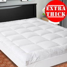 SOPAT Extra Thick Mattress Topper,Cooling Mattress pad cover,Pillow Top Construction( 8-21 Inch Deep Pocket),Double Border,Hypoallergenic Down Alternative Fill,Breathable