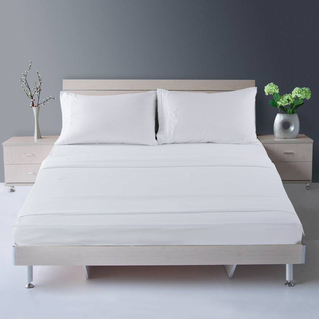 ... Microfiber Bed Sheet Set   Made Of 1800 Thread Count 100% Microfiber  Polyester   Extra ...