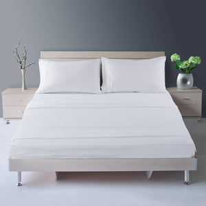 Microfiber Bed Sheet Set - Made Of 1800 Thread Count 100% Microfiber Polyester - Extra Deep Pocket - Stain Resistant, Warm, Breathable And Hypoallergenic - 3/4 Piece (White) - TEKAMON