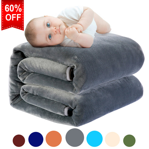 Fleece Twin Blanket Super Soft Warm Extra Silky Lightweight Bed Blanket, Couch Blanket, Travelling and Camping Blanket (Dark Grey)