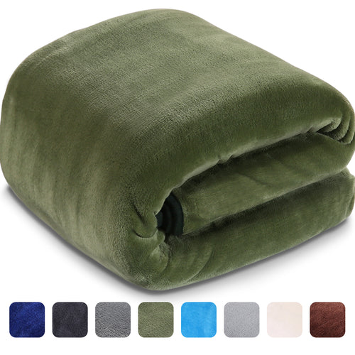 Fleece Blanket Super Soft Warm Extra Silky Lightweight Bed Blanket, Couch Blanket, Travelling and Camping Blanket (Dark Green)