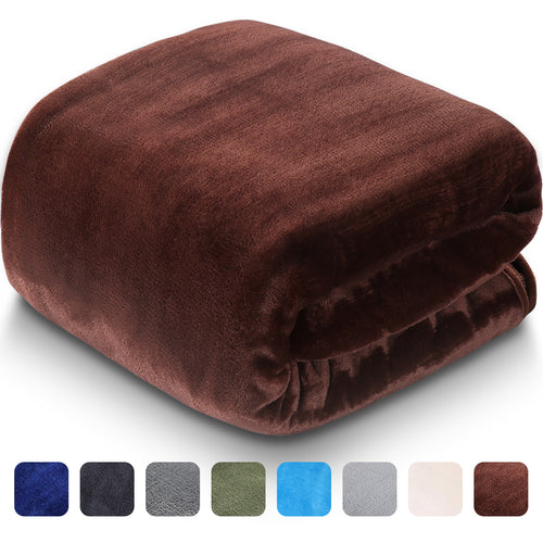 Fleece Blanket Super Soft Warm Extra Silky Lightweight Bed Blanket, Couch Blanket, Travelling and Camping Blanket (Brown)