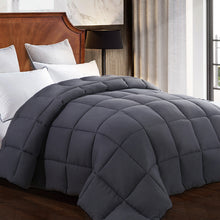 Comforter Soft Summer Cooling Goose Down Alternative Duvet Insert 2100 Quilt with Corner Tab for all Season, Prima Microfiber Filled Reversible Hotel Collection