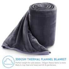 Fleece Blanket Super Soft Warm Extra Silky Lightweight Bed Blanket, Couch Blanket, Travelling and Camping Blanket (Dark Grey)