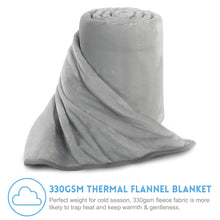Fleece Blanket Super Soft Warm Extra Silky Lightweight Bed Blanket, Couch Blanket, Travelling and Camping Blanket (Smoky Grey)